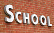 School Sign stock photography