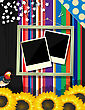 Scrapbook Design Decorated Frame, Abstract Art