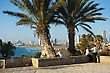 Sea Coast And The View Of The Tel Aviv From Old Jaffa stock image