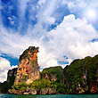 Sea, Sky And Cliffs In Krabi Province, Thailand stock image