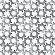 Seamless Abstract Background Of White 3d Gears With Realistic Shadow And Cut Out Of Paper Effect