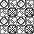 Seamless Abstract Background Of White 3d Shapes With Realistic Shadow And Cut Out Of Paper Effect. Geometrical Arabian Ornament With White And Grays
