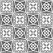 Seamless Abstract Background Of White 3d Shapes With Realistic Shadow And Cut Out Of Paper Effect. Geometrical Arabian Ornament With Gray And White