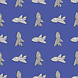 Seamless Aircraft Blue Background. Concept Airplane Pattern