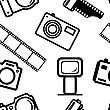Seamless Background, Of Digital Cameras, Tripod, Film