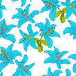 Seamless Background With Flower Lily. Could Be Used As Seamless Wallpaper, Textile, Wrapping Paper Or Background