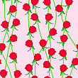 Seamless Background With Flower Roses. Could Be Used As Seamless Wallpaper, Textile, Wrapping Paper Or Background