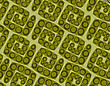 Seamless Background With Green Squares And Rings