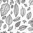 Seamless Background With Leaves. Abstract Vector Pattern
