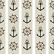 Seamless Background Pattern With Anchor And Helm.
