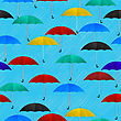 Seamless Background Pattern With Colored Umbrellas