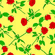 Seamless Background With Roses. Could Be Used As Seamless Wallpaper, Textile, Wrapping Paper Or Background