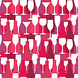Seamless Background With Wine And Cocktail Bottles And Glasses