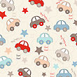 Seamless Background With Cars, Vector Illustration stock vector