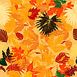 Seamless Background With Fall Leaves stock illustration