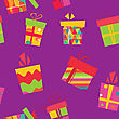 Seamless Background With Gift Boxes