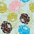 Seamless Background With Roses, Pattern