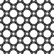 Seamless Black White Chain Pattern. Creative Decorative Background