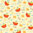 Seamless Boat Pattern, Illustration In Vector Format
