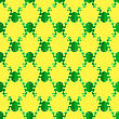 Seamless Cartoon Frog Pattern. Animal Yellow Background