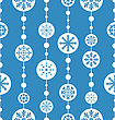 Seamless Christmas Pattern With Xmas Ball Toys Snowflakes - Vector