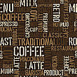 Seamless Coffee Experience Pattern. Vector, EPS8