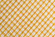 Seamless Diagonal Tablecloth Pattern, In Yellow And White stock image