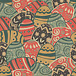 Seamless Easter Eggs Pattern. Vector, EPS10