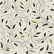 Seamless Ecology Pattern With Leaves. Vector, EPS10 stock illustration