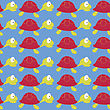 Seamless Fish Pattern Background stock vector