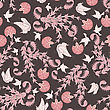 Seamless Floral Pattern. For Easy Making Seamless Pattern Just Drag All Group Into Swatches Bar, And Use It For Filling Any Contours. Vector Illustration