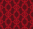 Seamless Floral Pattern Of Red On Vinous Background stock vector