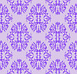 Seamless Floral Pattern Of Violet On A Lilac Background stock illustration