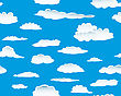 Seamless Fluffy Cloudy Background stock vector