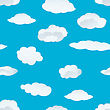 Seamless Fluffy Cloudy Background stock illustration