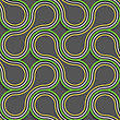 Seamless Geometric Background. Modern 3D Texture. Pattern With Realistic Shadow And Cut Out Of Paper Effect.Green And Orange Tangled stock vector