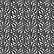 Seamless Geometric Background. Modern Monochrome 3D Texture. Pattern With Realistic Shadow And Cut Out Of Paper Effect. Geometrical Ornament With White Zig-zags On Gray Background