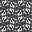 Seamless Geometric Background. Modern Monochrome 3D Texture. Pattern With Realistic Shadow And Cut Out Of Paper Effect.Geometrical Ornament With White Rough Shapes