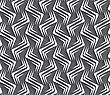 Seamless Geometric Background. Modern Monochrome 3D Texture. Pattern With Realistic Shadow And Cut Out Of Paper Effect.Geometrical Ornament With White Zig-zags