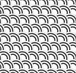 Seamless Geometric Background. Modern Monochrome 3D Texture. Pattern With Realistic Shadow And Cut Out Of Paper Effect.3D White And Black Textured Overlapping Half Circles