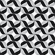 Seamless Geometric Background. Modern Monochrome Ribbon Like Ornament. Pattern With Textured Ribbons.Ribbons Gray Crosses Pattern
