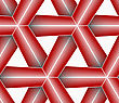 Seamless Geometric Background. Pattern With Realistic Shadow And Cut Out Of Paper Effect.Colored.3D Colored Red Triangular Striped Grid