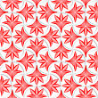 Seamless Geometric Background. Pattern With Realistic Shadow And Cut Out Of Paper Effect.3D White Pin Will Grid With Striped Floral Leaves