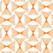 Seamless Geometric Background. Pattern With Realistic Shadow And Cut Out Of Paper Effect.3D Orange Striped Pin Will Rectangles