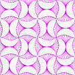 Seamless Geometric Background. Pattern With Realistic Shadow And Cut Out Of Paper Effect.3D Purple Striped Pin Will