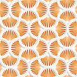 Seamless Geometric Background. Pattern With Realistic Shadow And Cut Out Of Paper Effect.3D Orange Ray Striped Pin Will Grid