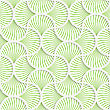 Seamless Geometric Background. Pattern With Realistic Shadow And Cut Out Of Paper Effect.3D Green Wavy Striped Pin Will Grid