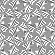 Seamless Geometric Background. Pattern With Realistic Shadow And Cut Out Of Paper Effect.3D White Twisted Squares On Gray