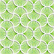 Seamless Geometric Background. Pattern With Realistic Shadow And Cut Out Of Paper Effect.3D Green Striped Pin Will Grid