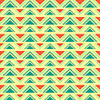 Seamless Geometric Ethnic Pattern, Vector Format